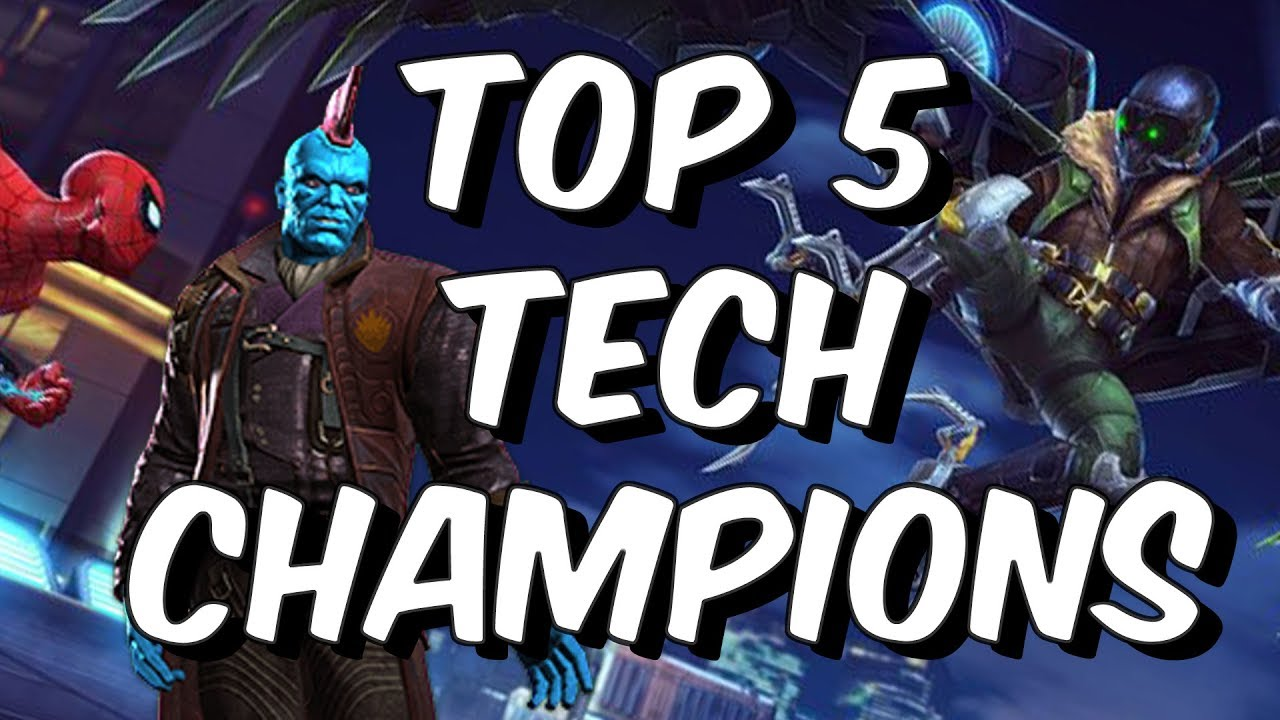 Top 5 Tech Champions Patch 16 0 November 2017 Marvel Contest Of Champions