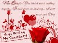 happy birthday sweetheart wishes,whatsapp video message with beautiful quotes