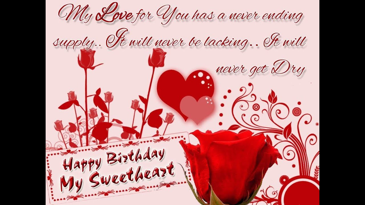 happy birthday sweetheart wisheswhatsapp video message with – Birthday Text Greetings
