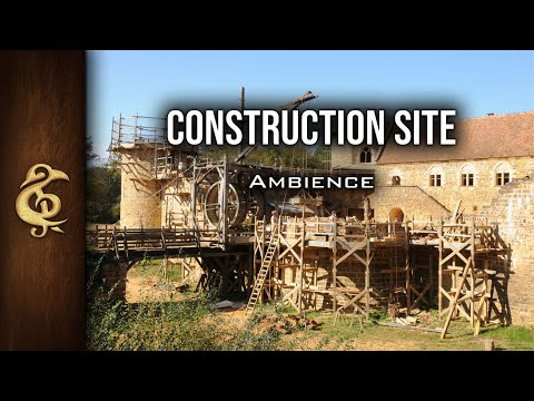 🎧 RPG / D&D Ambience - Construction Site | Medieval, Workers, Citylife