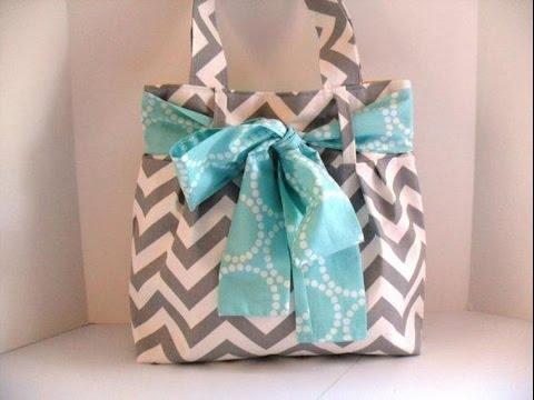 Super Easy Bow Bag Diaper Tote Sewing Tutorial Diy