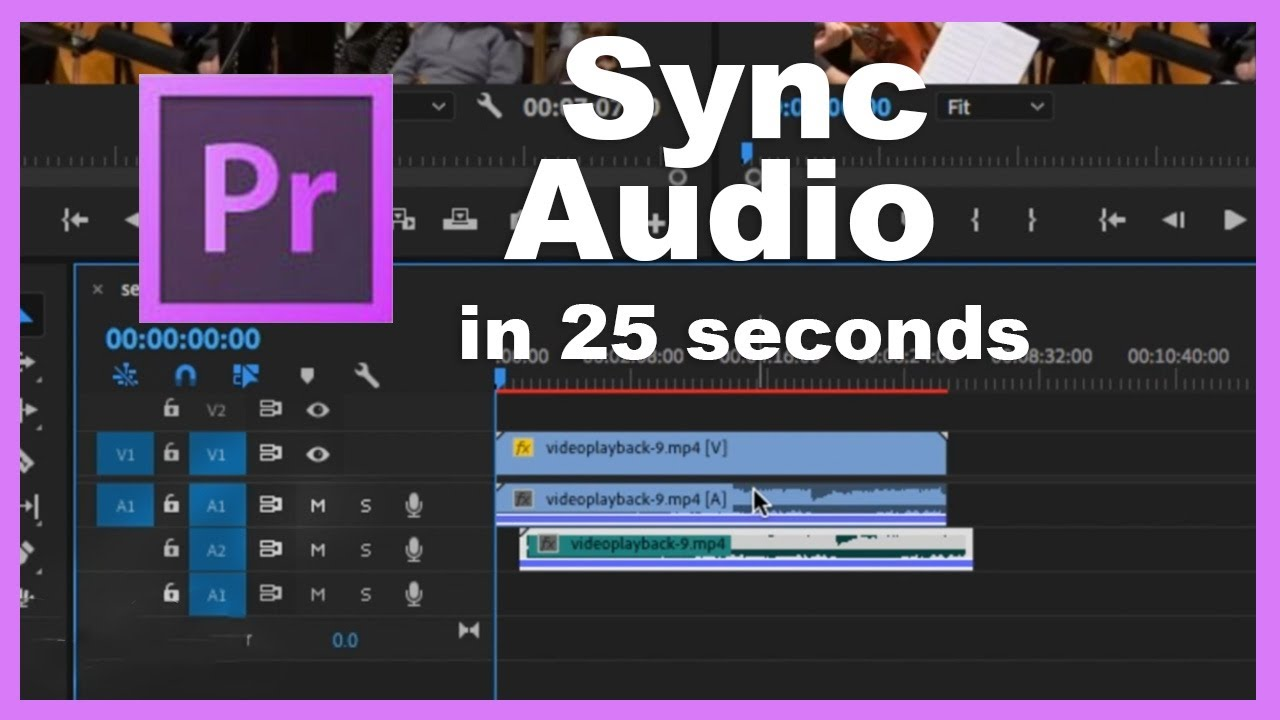 How to SYNC Video and Audio in 25 SECONDS! (Premiere Pro)