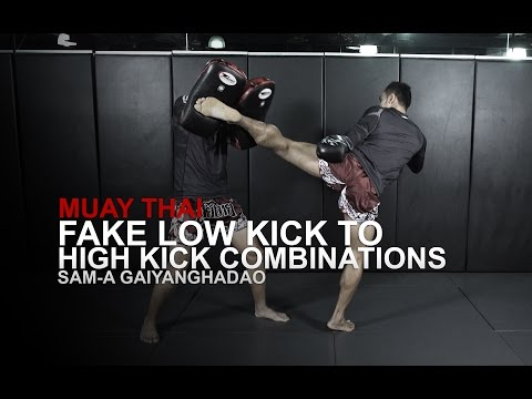 Muay Thai: Question Mark Kick Combinations | Evolve University