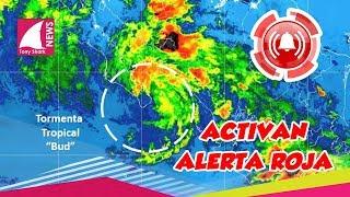 Activan alerta roja por impacto del ciclón tropical Bud en Baja California Sur