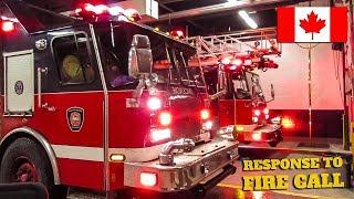Montréal | Montréal Fire Service (SIM) Pumper 205, Ladder 405 & Tower 771 Respond to Fire