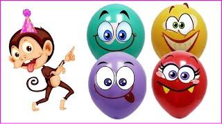 Учим цвета для детей на русском.  Для самых маленьких. Учим цвета шарики  Развивающий мультик