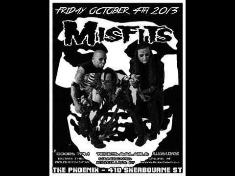 "THE MISFITS   ~ LIVE ~ October 4th 2013   {Toronto}   ""Horror Hotel""   Clip 1"