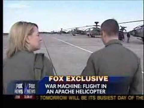 Jamie Colby Flies in an Apache - Dec 17, 2006