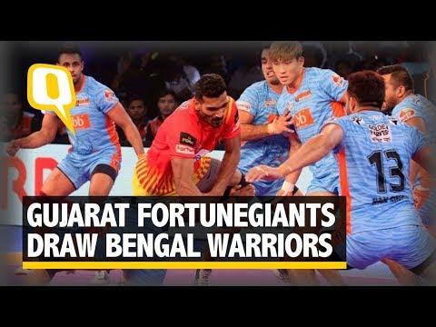 Pro Kabaddi: Gujarat Fortunegiants Draw Bengal Warriors 26-26 - The Quint