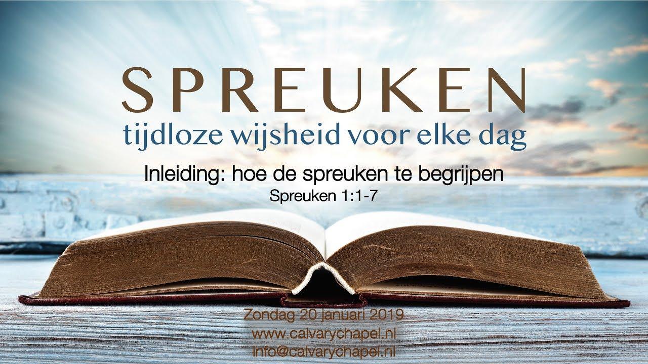 Bijbelstudie En Uitleg Hoe De Spreuken Te Begrijpen