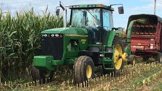 John Deere 8100 2wd Tractor Chopping Corn