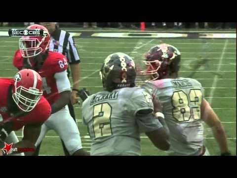 Jordan Jenkins (Georgia DE OLB) vs Vanderbilt 2015