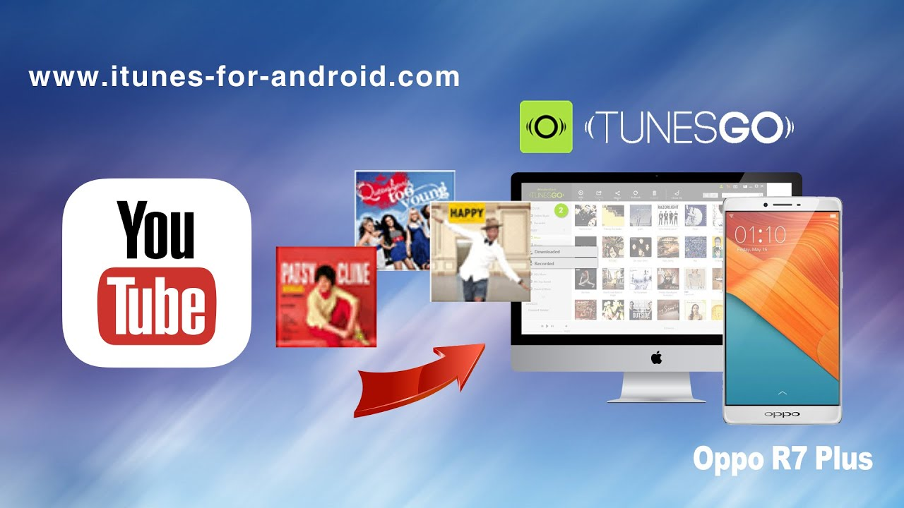 How to Download Music from YouTube to Oppo R7 Plus / R7 Lite/R7/R5 on Mac  for Free