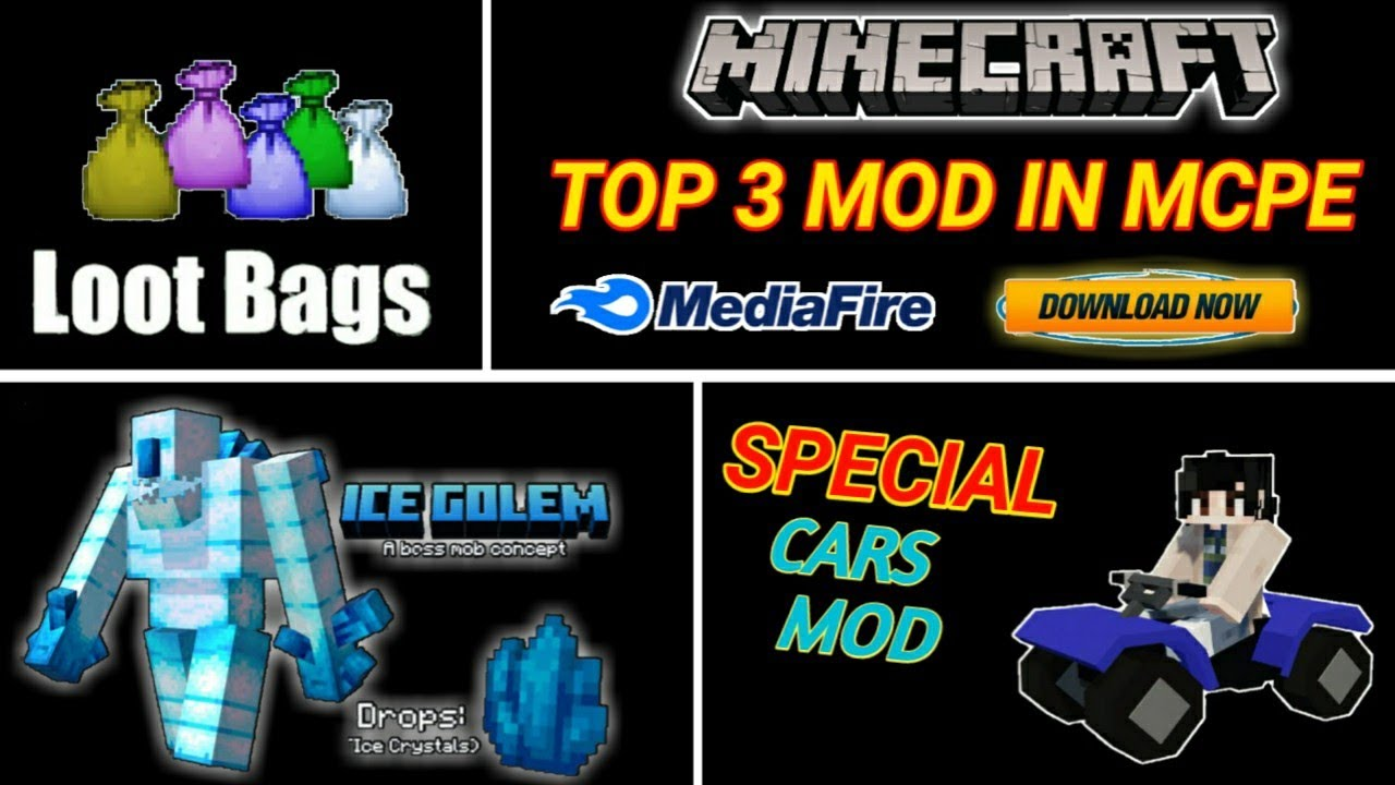 Download How To Download Top 3 Mods In Minecraft pe ! MEDIAFIRE !【UNIVERSE GAMER】