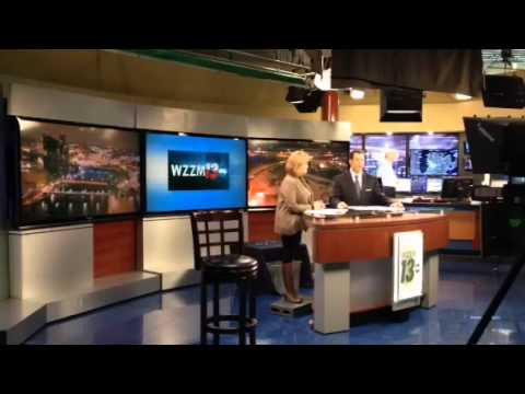 Time Lapse of a WZZM 13 Newscast