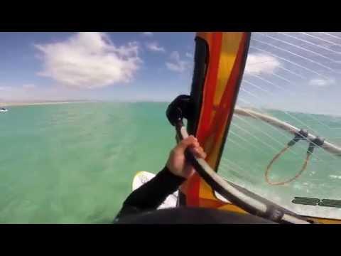 Windsurfing flatwater Fuerteventura helmet cam RRD Firemove Neil Pryde excess
