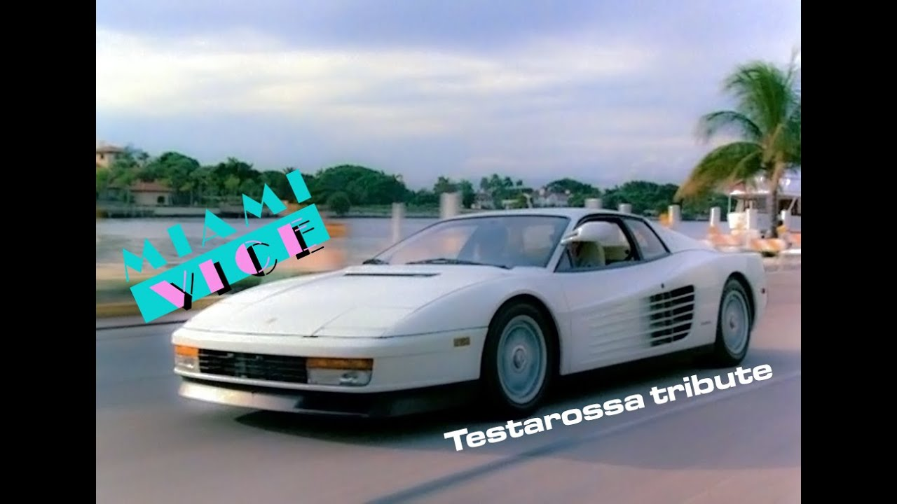 Ferrari Testarossa Miami Vice Tribute Youtube
