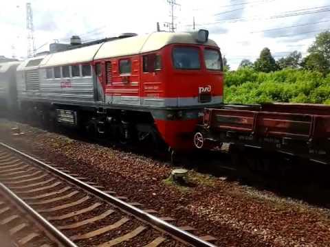 Тепловоз 2М62-0661 с хозяйственным поездом станция Кубинка-1 10.06.2016