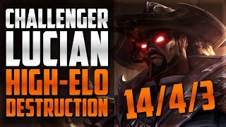 CHALLENGER LUCIAN MASSACRES HIGH-ELO (SMURFING IN MASTER) - League of Legends