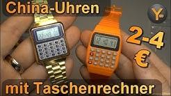 Billige Taschenrechner-Uhren aus China im Test / Calculator Watch