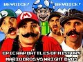 Mario Bros vs Wright Bros. but WITH THE REAL MARIO BROS! (REVOICE!)