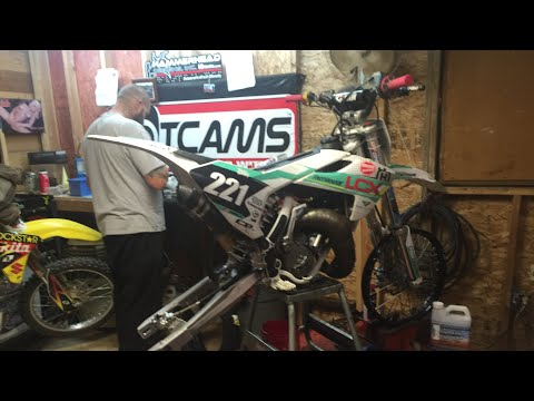 Husqvarna 65 cc with 85 cc big wheels and unboxing Asv unbreakable dirtbike levers