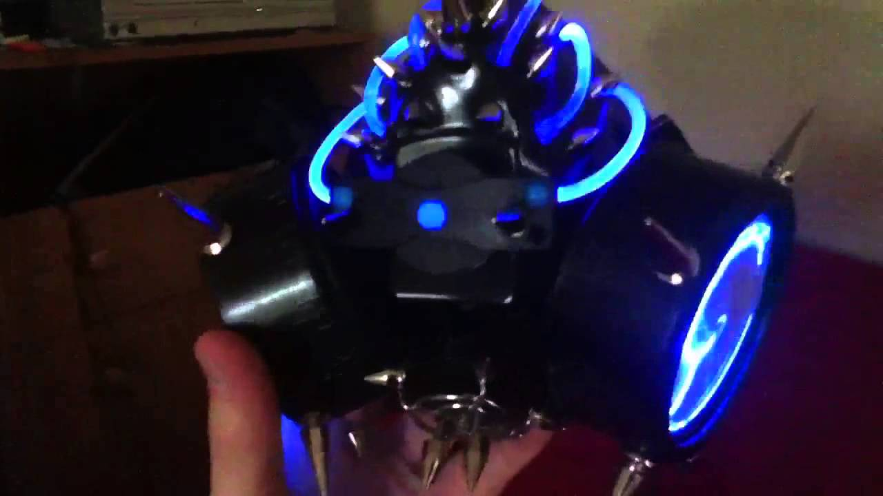 My Quot Spiked Led Cyber Rave Goth Pvc Plasma Quot Gas Mask Youtube