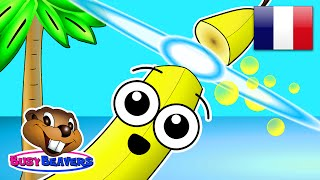 """""""Island Fruits Groove"""" (FRENCH) Learn Fruit Names in Speak Français, Kids French Speaking"""