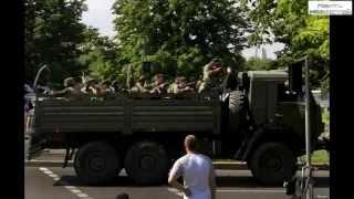 ДОНЕЦК, Украина:'КамАЗ' с 'кадыровцами' перевернулся в Донецке,    очевидцы