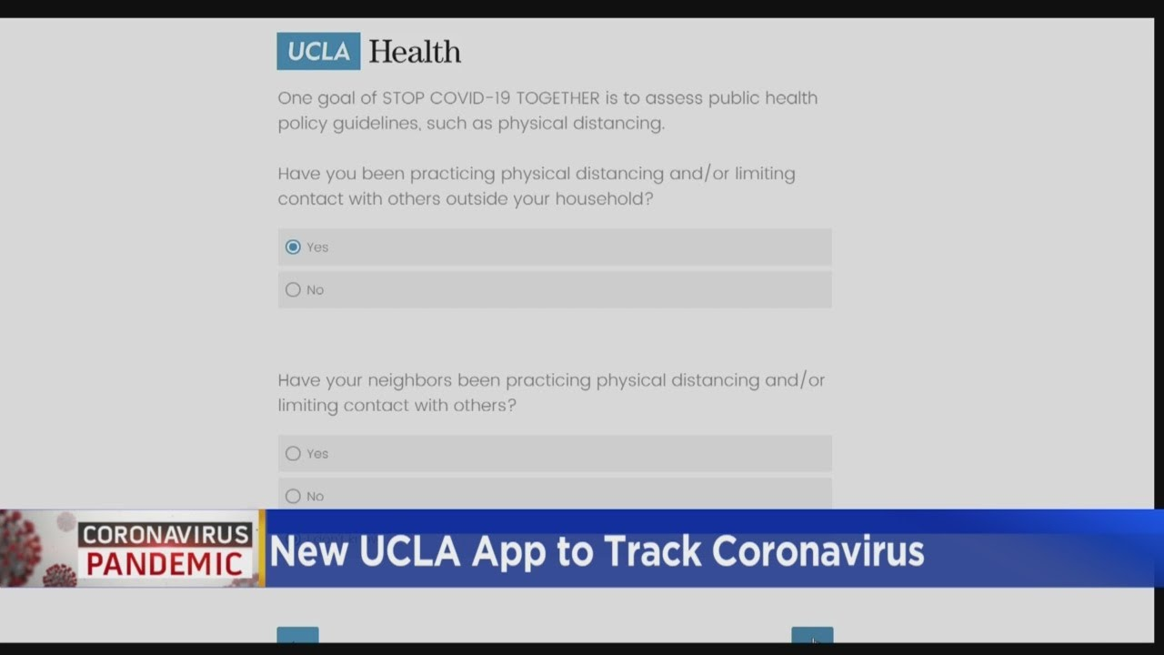 New UCLA App To Track Coronavirus - CBS Los Angeles