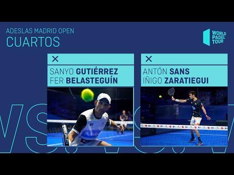 Resumen Cuartos de final Sanyo/Bela Vs Sans/Zaratiegui Adeslas Madrid Open 2021 - World Padel Tour