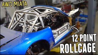 homepage tile video photo for Finishing the Rollcage in the AWD MIATA!