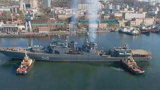 Фрегат «Маршал Шапошников» вышел на второй этап испытаний в Японском море