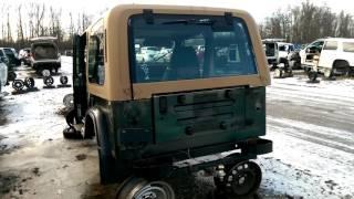 Rusty Jeep Wrangler in the Junk Yard