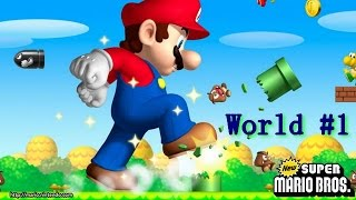 LET'S PLAY NEW SUPER MARIO BROS. DS - WORLD 1 - WHERE ARE THE HIDDEN PATHS? | Etten Games