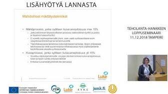 TEHOLANTA loppuseminaari Siipikarjanlannasta biokaasua Maarit Hellstedt
