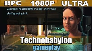 Technobabylon gameplay HD - Point and Click Adventure - [PC - 1080p]