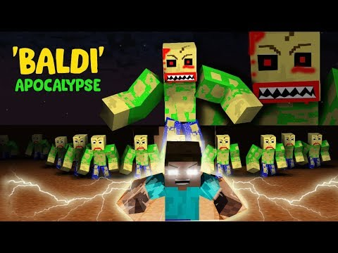MONSTER SCHOOL : BALDI ZOMBIE APOCALYPSE - SUPER ACTION MINECRAFT ANIMATION