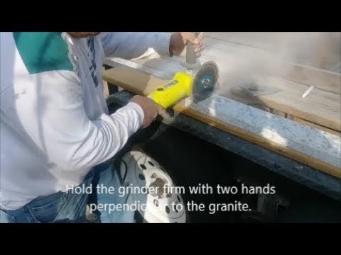 How To Cut Granite Using A Grinder And Diamond Blade D I Y You
