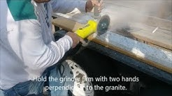 How to cut granite using a grinder and diamond blade  - D I Y