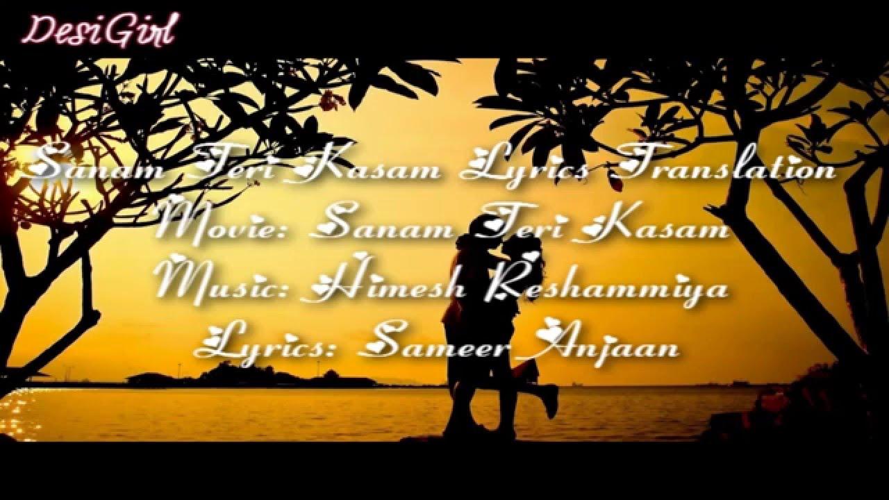 Sanam Teri Kasam Lyrics Translation in English