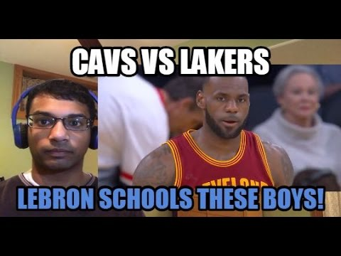 LEBRON JAMES SCHOOLS THE LAKERS! Cleveland Cavaliers VS Los Angeles Lakers HIGHLIGHTS (REACTION)