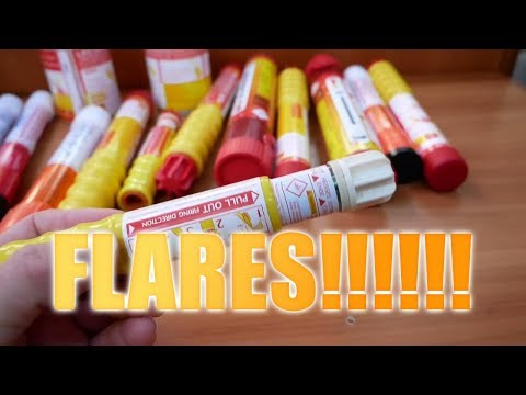 Flares!!!! Getting Ready to sail, # Vlog1