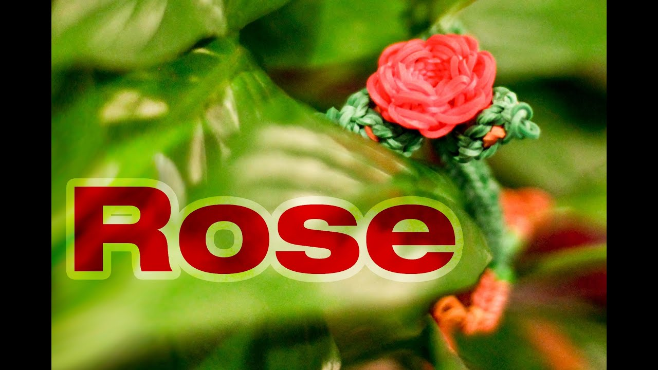 Rainbow loom 3d valentines rose charm tutorial advanced youtube
