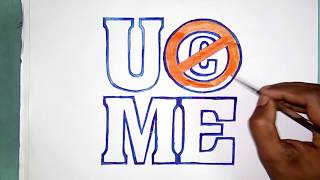 How to draw the WWE player John Cena UC ME logo