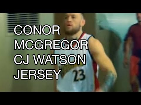 huge selection of 1c180 fa32c Conor McGregor C.J. Watson's jersey: Spites Floyd Mayweather ...