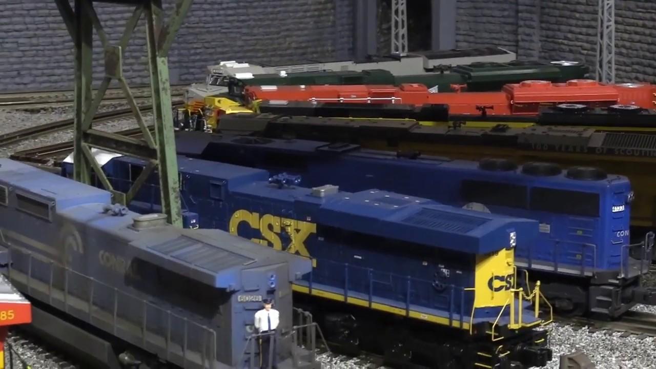 Eric Siegel O Gauge 3 Rail Layout  by Southeast Rails