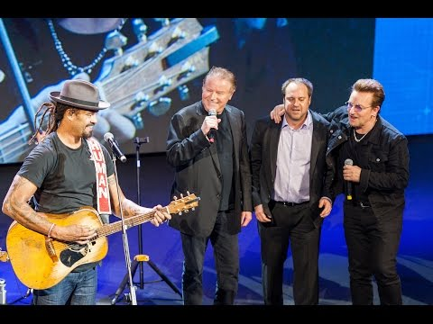 Michael Franti, Bono, Don Henley, And Jeff Skoll Perform