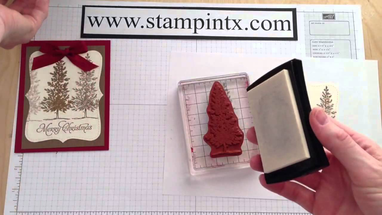 How to Create a Beautiful Embossed Christmas Tree Card