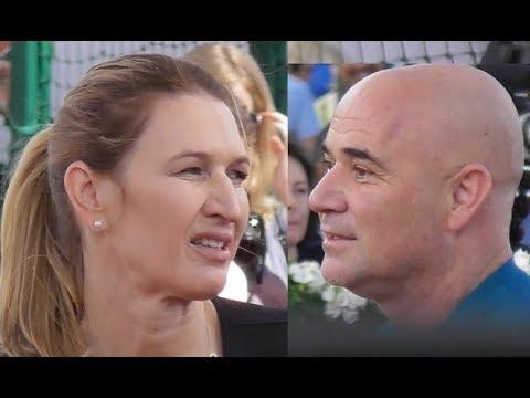 Andre Agassi & Steffi Graf @ Paris 2 june 2018 Future Aces  Roland Garros  Juin